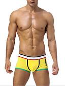 ieftine Men's Exotic Underwear-Bărbați Mată Boxeri Talie Joasă