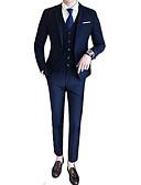 povoljno Muški sakoi i odijela-odijela Muškarci Jednobojni,Zašiljeni rever / Dugih rukava