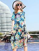 abordables Vestidos de Mujeres-Mujer Básico / Elegante Recto Vestido Floral Midi