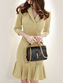 cheap Women's Dresses-Women's Going out Slim Sheath Dress V Neck