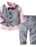 olcso Örömanya ruhák-Gyerekek / Kisgyermek Fiú Egyszínű / Csíkos Hosszú ujj Ruházat szett