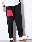 tanie Męskie koszule-Męskie Wzornictwo chińskie Bawełna Luźna Typu Chino Spodnie Kolorowy blok