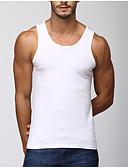 זול חולצות לגברים-אחיד רזה חוף כותנה, עליונית טנק - בגדי ריקוד גברים / ללא שרוולים