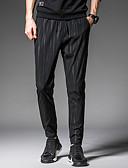 ieftine Tricou Bărbați-Bărbați Activ Mărime Plus Size Bumbac / In Harem Pantaloni - Plisată, Mată / Buline Negru & Roșu