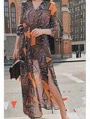 povoljno Ženske haljine-Žene Plaža Slim Korice Haljina V izrez Maxi Visoki struk
