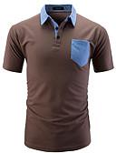 tanie Męskie koszulki polo-Polo Męskie Podstawowy Bawełna Kołnierzyk koszuli Kolorowy blok / Krótki rękaw