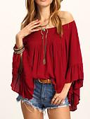 ieftine Bluze de Damă-Pentru femei Tricou Boho - Mată Plisată