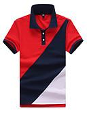 tanie Męskie koszulki polo-Polo Męskie Praca Kołnierzyk koszuli Kolorowy blok / Krótki rękaw