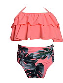 cheap Women's Swimwear & Bikinis-Toddler Girls' Beach Floral Print Polyester / Nylon Swimwear Pink