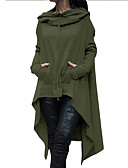 cheap Women's Trench Coat-Women's Basic / Street chic Trench Coat - Solid Colored
