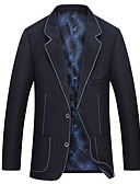 preiswerte Herren-Hosen und Shorts-Männer gehen Arbeit Blazer-Farbe Block V-Ausschnitt
