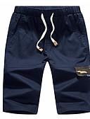 ieftine Tricou Bărbați-Bărbați De Bază Pantaloni Chinos Pantaloni Mată