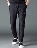 ieftine Pantaloni Bărbați si Pantaloni Scurți-Bărbați Zvelt Pantaloni Chinos Pantaloni Dungi