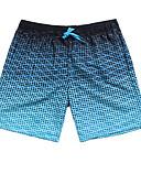 זול בגדי ים לגברים-L XL XXL גיאומטרי, בגדי ים חלקים תחתונים רגלו של הילד כחול בהיר בגדי ריקוד גברים