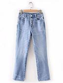 ieftine Pantaloni de Damă-Pentru femei Activ Blugi Pantaloni Mată Albastru & Alb