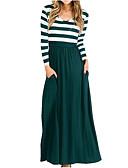 זול 2017ביקיני ובגדי ים-מקסי / מידי דפוס, אחיד / פסים - שמלה גזרת A / נדן מתוחכם / אלגנטית בגדי ריקוד נשים