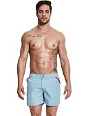 abordables Ropa interior para hombre exótica-Hombre Activo / Básico Chinos / Shorts Pantalones - Un Color Gris / Deportes / Verano / Playa