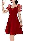 povoljno Ženske haljine-Žene A kroj Haljina Jednobojni V izrez Iznad koljena