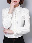 preiswerte Bluse-Damen Solide Hemd Spitzenbesatz