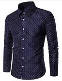 זול חולצות לגברים-חולצת גברים - צווארון חולצת פולקה