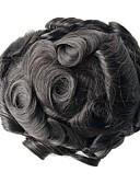 זול טרנינגים וקפוצ'ונים לגברים-בגדי ריקוד גברים שיער אנושי פיאות גלי 100% קשירה ידנית רך