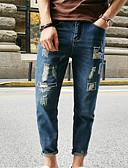 ieftine Pantaloni Bărbați si Pantaloni Scurți-Bărbați De Bază Blugi Pantaloni Mată