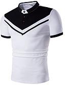 billige Poloskjorter til herrer-Polo Herre - Fargeblokk, Trykt mønster