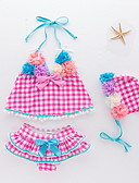 cheap Women's Dresses-Kids / Toddler Girls' Check Swimwear