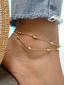 baratos Biquínis e Roupas de Banho Femininas-Camadas Tornezeleira tornozeleira - Caído Boêmio, Fashion Dourado / Prata Para Feriado Para Noite Mulheres