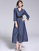 זול עליוניות לנשים-מידי שמלה גזרת A בסיסי / סגנון רחוב בגדי ריקוד נשים