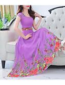 tanie Print Dresses-Damskie Wyjściowe Szczupła Swing Sukienka Midi