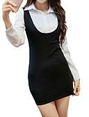 preiswerte Etuikleider-Damen Street Schick Hülle Kleid Solide Mini