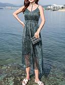 povoljno Ženske haljine-Žene Plaža Slim Korice Haljina Uski okrugli izrez Midi Visoki struk
