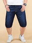 זול עניבות ועניבות פרפר לגברים-בגדי ריקוד גברים פשוט / בסיסי מידות גדולות משוחרר ג'ינסים / שורטים מכנסיים - אחיד פול / אביב / קיץ