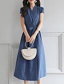 olcso Szilveszteri ruhák-Női A-vonalú Ruha Midi V-alakú