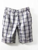 povoljno Muške duge i kratke hlače-Muškarci Osnovni Slim Chinos / Kratke hlače Hlače - Karirani uzorak Print Obala / Ljeto