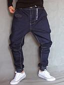 ieftine Pantaloni Bărbați si Pantaloni Scurți-Bărbați Zvelt Blugi Pantaloni - Mată Bleumarin