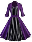 povoljno Ženske haljine-Žene Hlače - Na točkice Visoki struk Blushing Pink / Ruska kragna