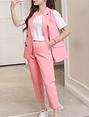 abordables Biquinis y Bañadores para Mujer-Mujer Conjunto - Un Color Cuello Camisero Pantalón