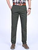 tanie Męskie spodnie i szorty-Męskie Podstawowy Szczupła Typu Chino Spodnie Jendolity kolor