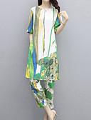 povoljno Ženske haljine-Žene Vintage / Ulični šik Set - Cvjetni print / Geometrijski oblici, Print Hlače