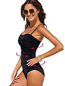 cheap Bikinis-Women's One Piece Swimsuit Spandex Bodysuit Stretchy Sleeveless Swimming Solid Colored Summer