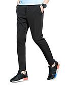 ieftine Tricou Bărbați-Bărbați Activ / Șic Stradă Mărime Plus Size Pantaloni Chinos Pantaloni - Mată Negru / Vară / Sfârșit de săptămână