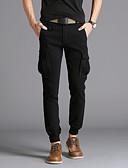 tanie Męskie koszulki polo-Męskie Podstawowy / Wojsko Bawełna Szczupła Typu Chino / Spodnie dresowe Spodnie Solidne kolory