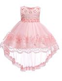 tanie W stylu vintage-Dziecko Dla dziewczynek Vintage Wyjściowe Solidne kolory Bez rękawów Do kolan / Asymetryczna Bawełna Sukienka
