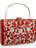preiswerte Abendkleider-Damen Taschen Leder / Aleación Abendtasche Kristall Verzierung / Ausgehöhlt Rote / Purpur / Fuchsia