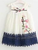 お買い得  女児 ドレス-幼児 女の子 ベーシック ソリッド ノースリーブ ドレス ブルー