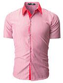 povoljno Muške košulje-Majica Muškarci - Osnovni Izlasci / Vikend Prugasti uzorak / Color block