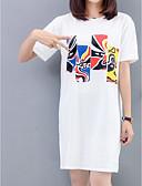 povoljno Majica s rukavima-Majica s rukavima Žene Dnevno Jednobojni / Slovo / Portret Print