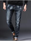 baratos Calças e Shorts Masculinos-Homens Básico Jeans / Chinos Calças - Sólido